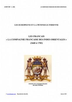 L036 - LES EUROPEENS et LA PENINSULE INDIENNE - LES FRANCAIS et LA COMPAGNIE FRANCAISE des INDES ORIENTALES